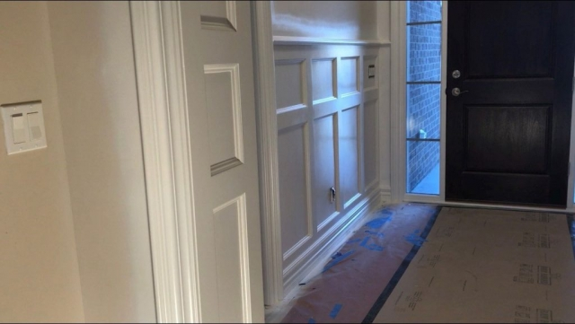 Entryway Wall Wainscoting