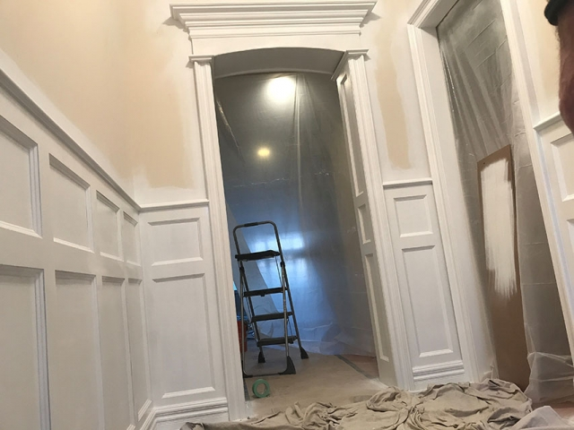 Entryway Door Wainscoting