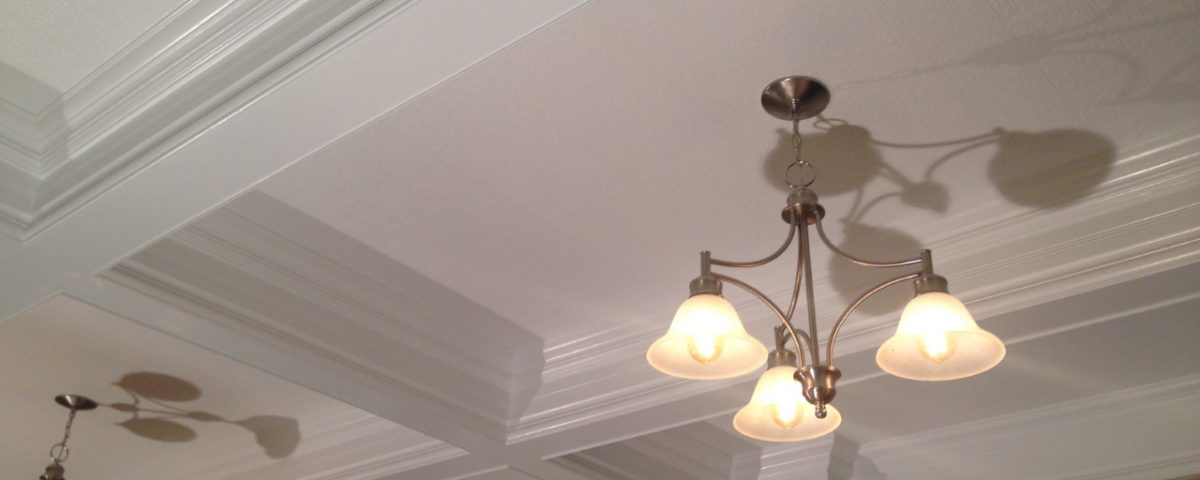 coffered ceiling installation